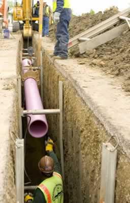 Infrastructures underground pipe