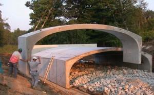 A prefab bridge